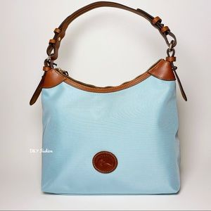 DOONEY AND BOURKE NYLON LARGE ERICA HOBO BAG